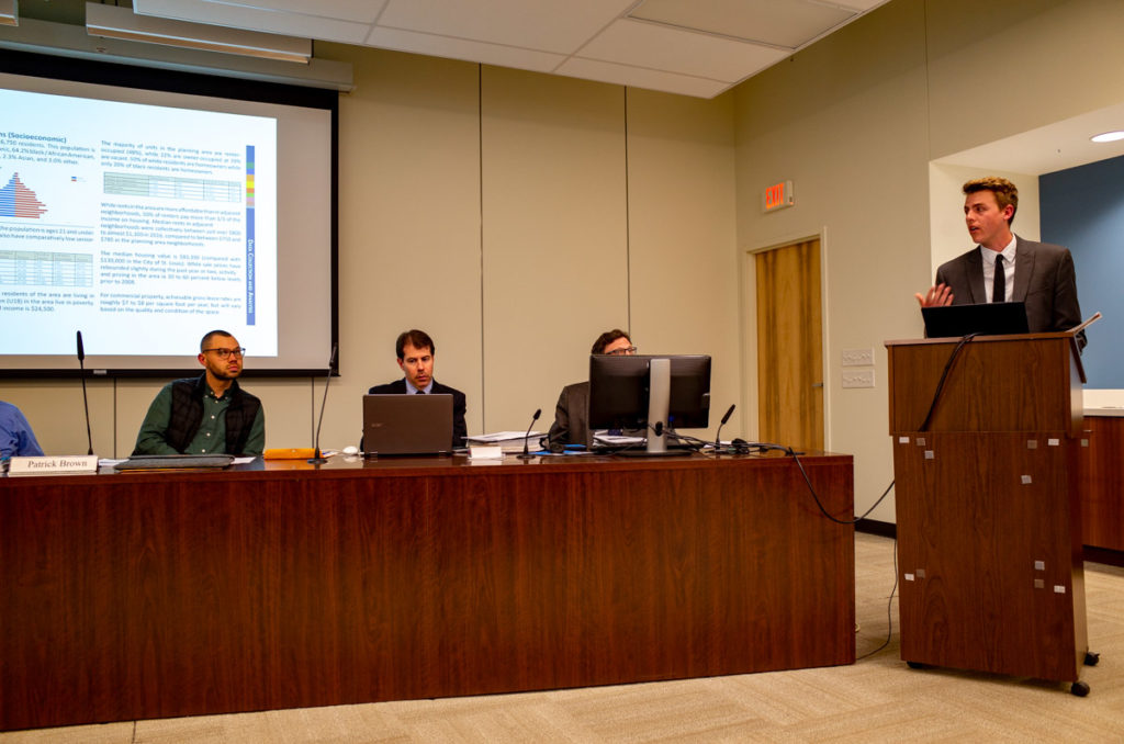 Project Manager Carrick Reddin Presents the Gravois Jefferson Plan to the St. Louis Planning Commission